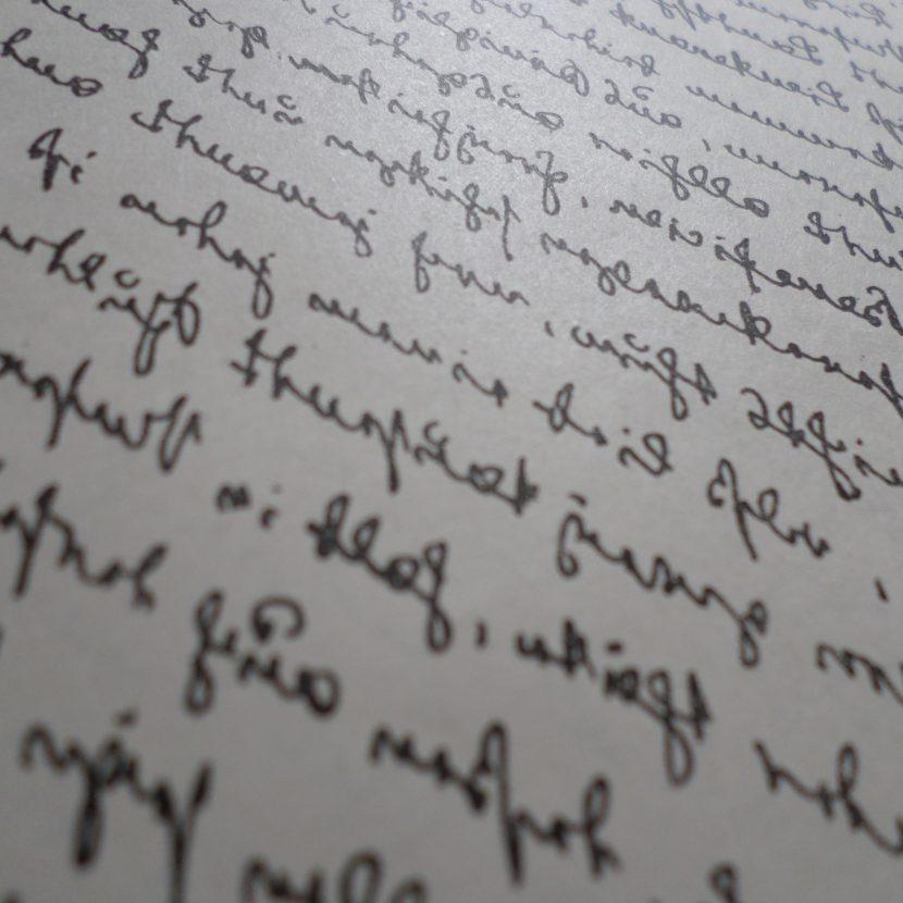 Handschrift gespiegelt